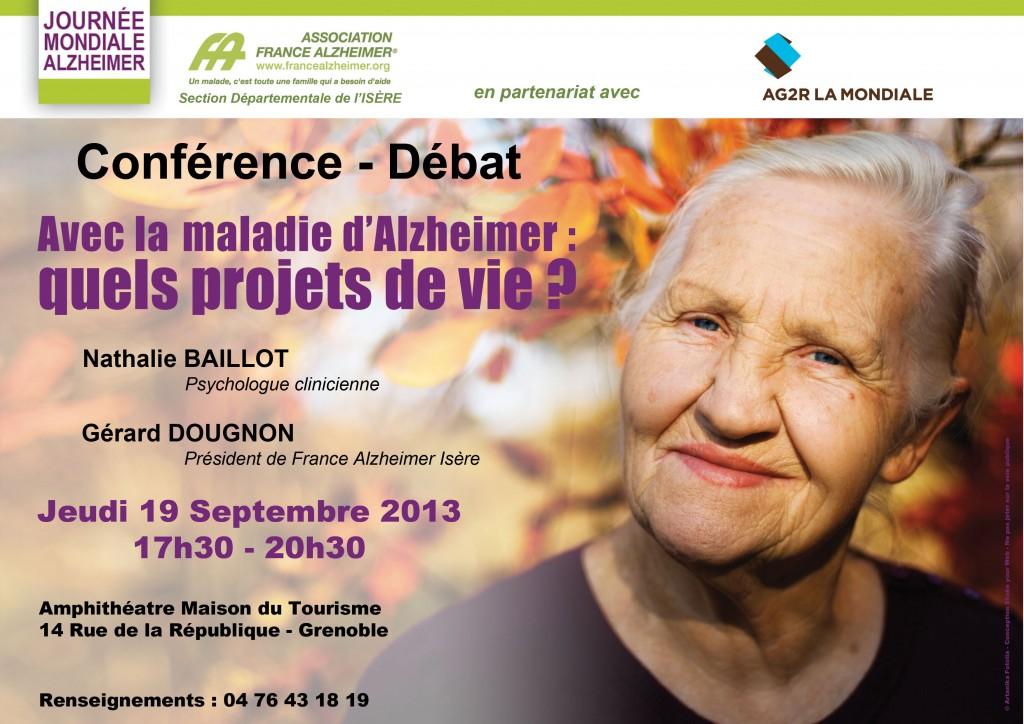 Réalisation d'une affiche pour France Alzheimer Isère